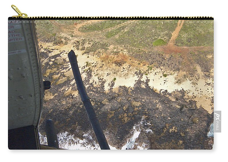 Lz Carry-all Pouch featuring the photograph Coming In To The Lz by Robert Ponzoni