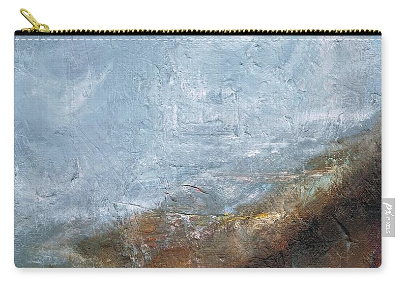 Abstract Carry-all Pouch featuring the painting Coming Out Of A Fog by Frances Marino