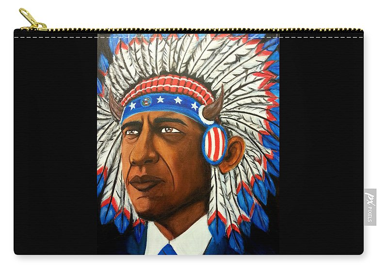 Dossome Carry-all Pouch featuring the painting Commander And Chief by Brian Doss