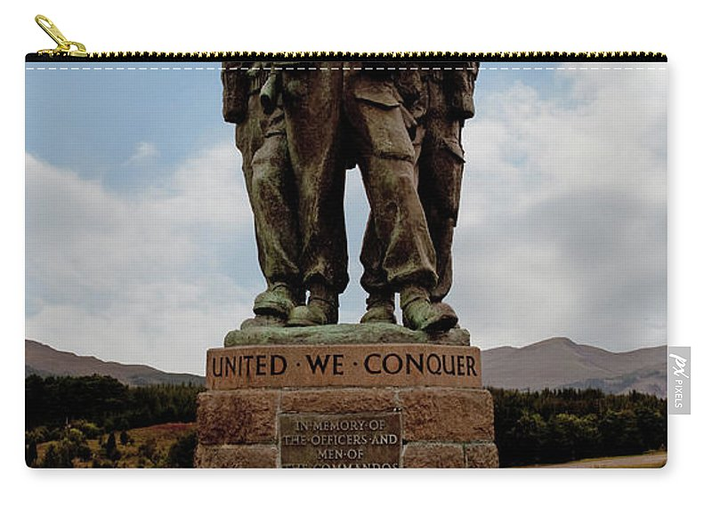Commando Memorial Carry-all Pouch featuring the photograph Commando Memorial 2 by Chris Thaxter