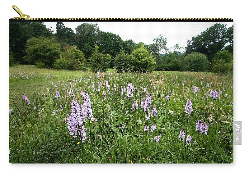 Orchid Carry-all Pouch featuring the photograph Common Spotted Orchids by Bob Kemp