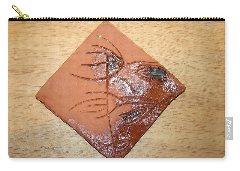 Jesus Carry-all Pouch featuring the ceramic art Communion - Tile by Gloria Ssali