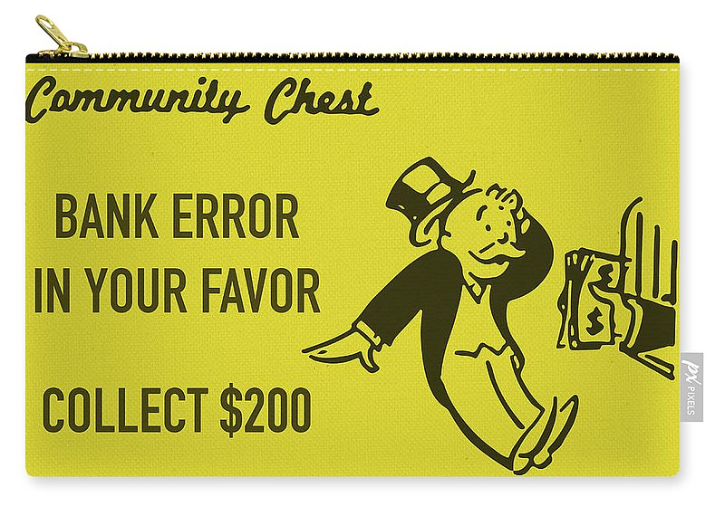 Design Bank Sale.Community Chest Vintage Monopoly Board Game Bank Error In Your