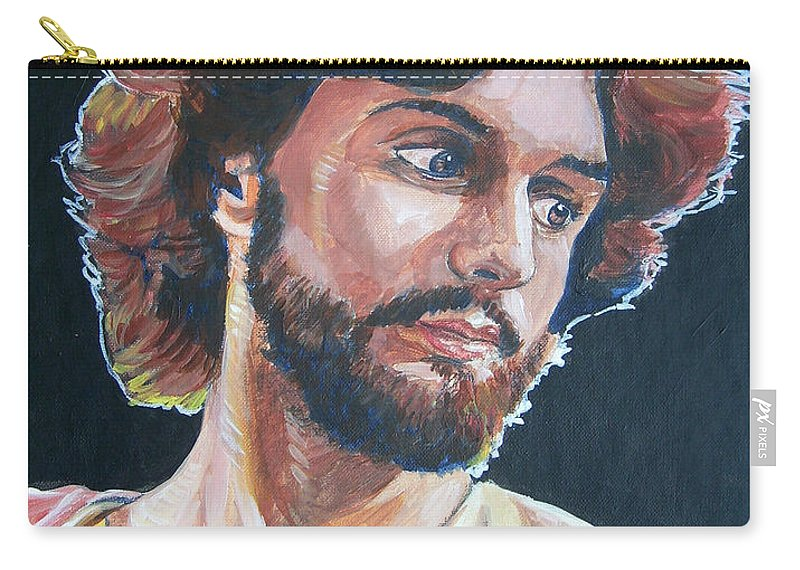 Jesus Christ Carry-all Pouch featuring the painting Compassionate Christ by Bryan Bustard