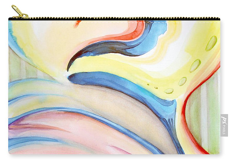 Abstract Carry-all Pouch featuring the painting Complacence by Kristen Chlopecki