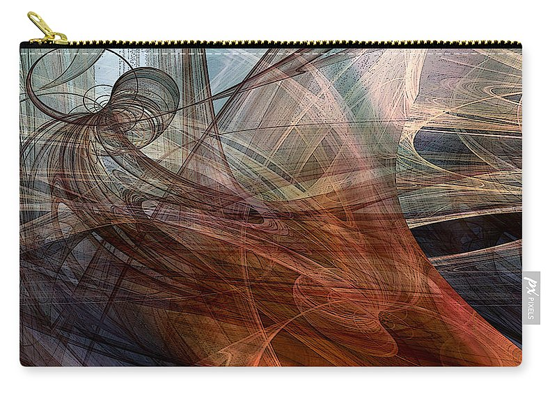 Abstract Carry-all Pouch featuring the digital art Complex Decisions by Ruth Palmer