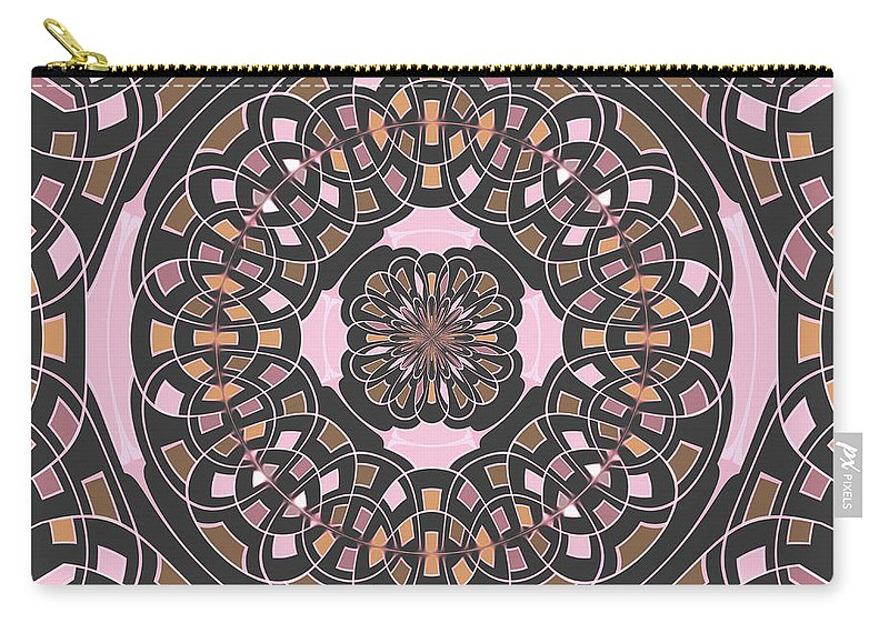 Mandala Carry-all Pouch featuring the digital art Complex Geometric Abstract by Gaspar Avila