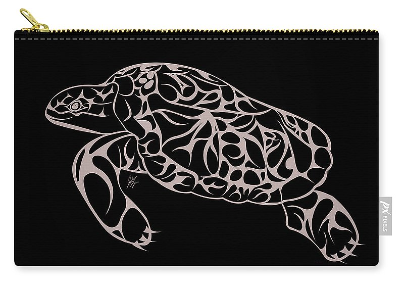 Turtle Carry-all Pouch featuring the digital art Complexity by Jamie Lynn