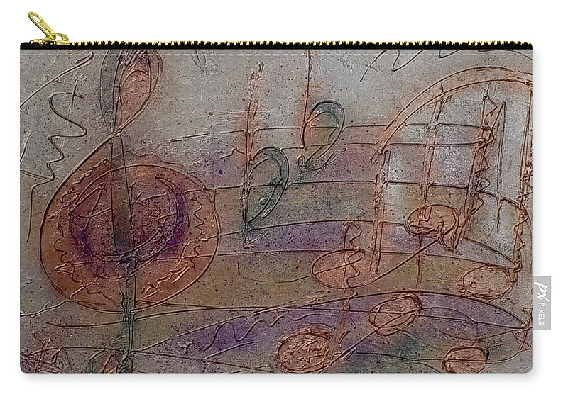 Impressionist Carry-all Pouch featuring the painting Composition In B Flat by Anita Burgermeister