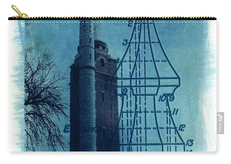Alternative Process Photography Carry-all Pouch featuring the photograph Compton Blueprint by Jane Linders