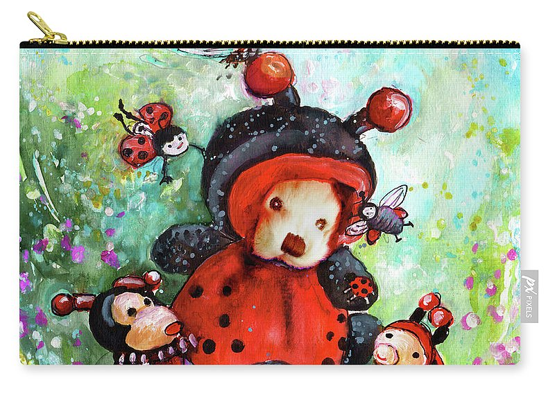 Truffle Mcfurry Carry-all Pouch featuring the painting Comtessine Coccinella De Lafontaine by Miki De Goodaboom