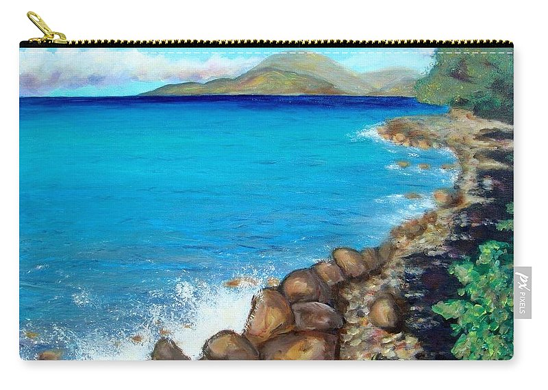 Water Carry-all Pouch featuring the painting Concealed Crustacean by Laurie Morgan