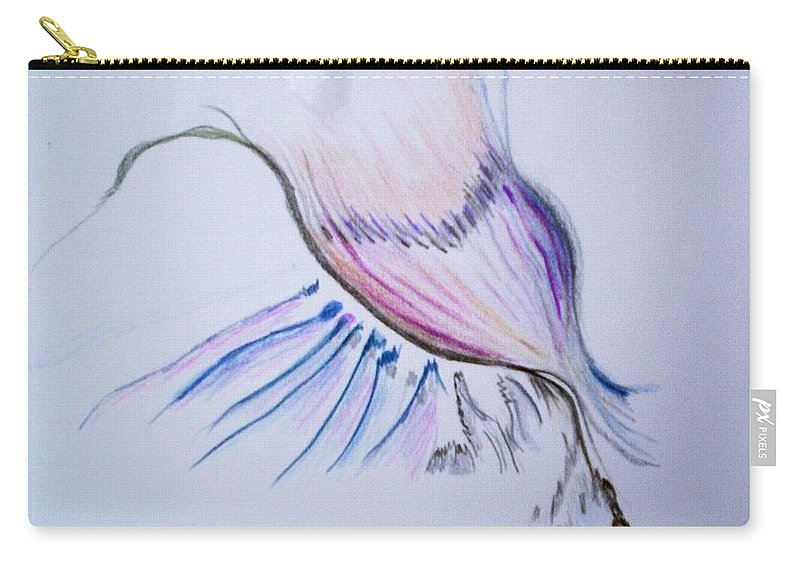 Abstract Painting Carry-all Pouch featuring the painting Conception by Suzanne Udell Levinger