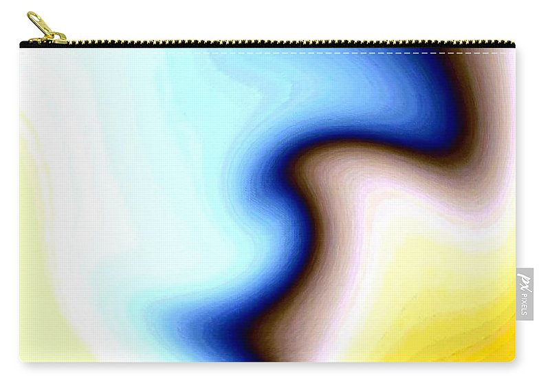 #faceprofileabstract Carry-all Pouch featuring the digital art Conceptual 7 by Will Borden