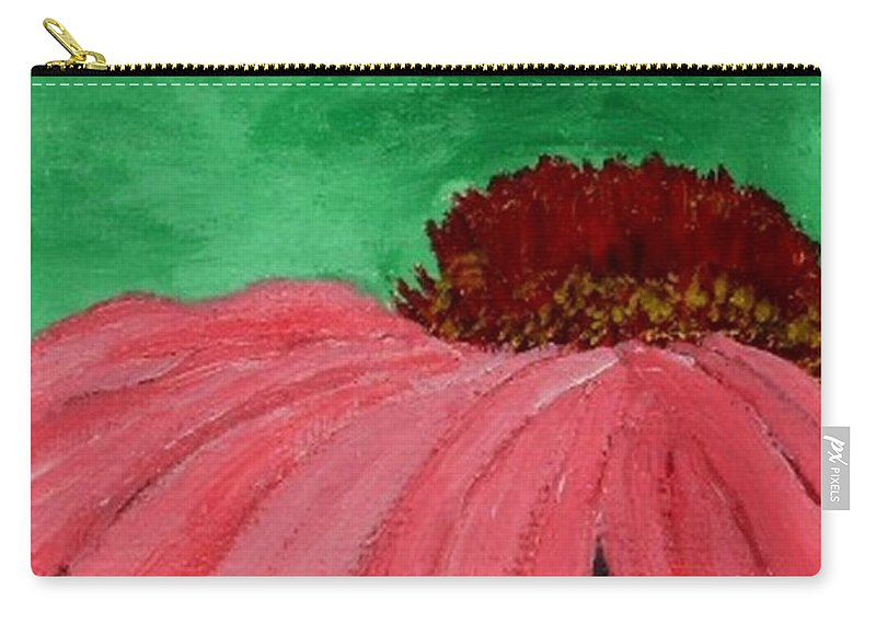 Cone Flower Carry-all Pouch featuring the painting Cone Flower by Leslye Miller