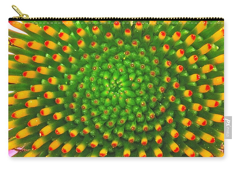 Flower Carry-all Pouch featuring the photograph Cone Flower by Michael Peychich