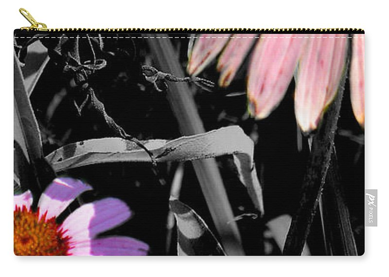 Purple Cone Flower Carry-all Pouch featuring the photograph Cone Flower Tapestry by Steve Karol