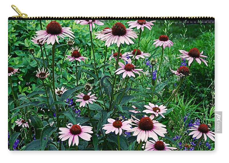 Coneflowers Carry-all Pouch featuring the photograph Coneflower Garden by James DeFazio