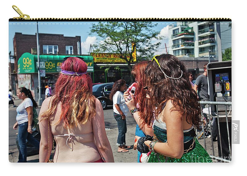 Coney Island Carry-all Pouch featuring the photograph Coney Island Girls by Madeline Ellis