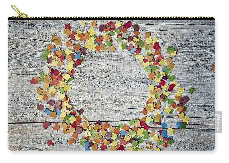 Circle Carry-all Pouch featuring the photograph Confetti Circle by Nailia Schwarz