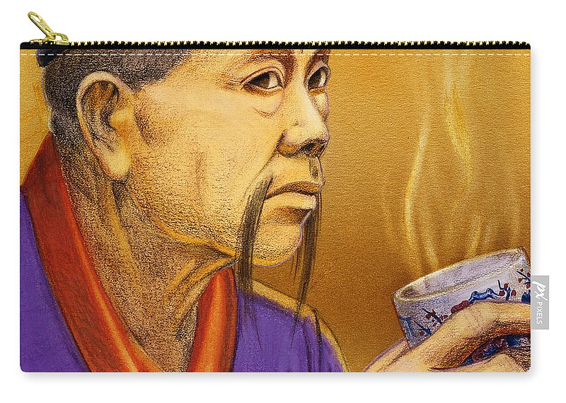 Oriental Carry-all Pouch featuring the painting Confucian Sage by Melissa A Benson