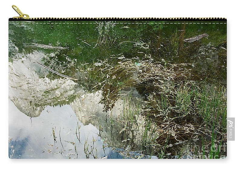 Mirror Lake Carry-all Pouch featuring the photograph Confusion by Kathy McClure