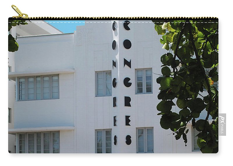 Hotel Carry-all Pouch featuring the photograph Congress Hotel by Jost Houk