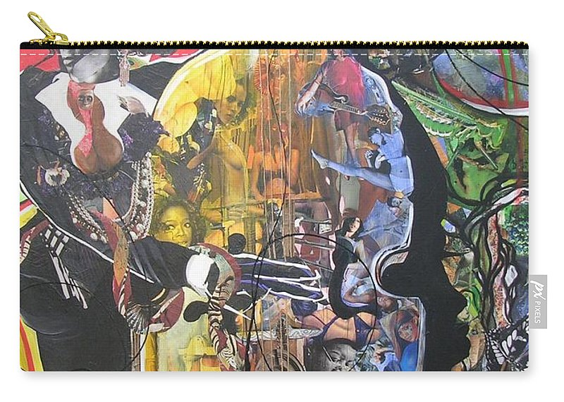 Woman Carry-all Pouch featuring the mixed media Conjure Bass Le Femme by Hasaan Kirkland