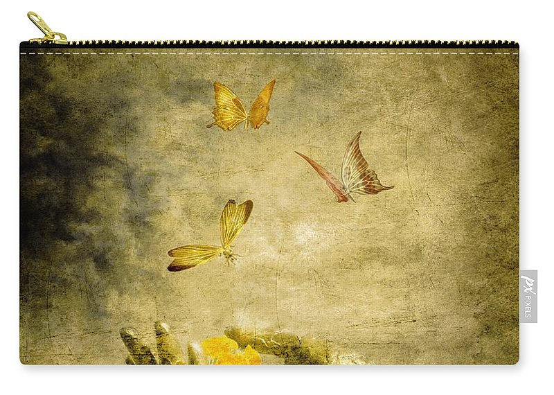 Inspirational Carry-all Pouch featuring the painting Connect by Jacky Gerritsen