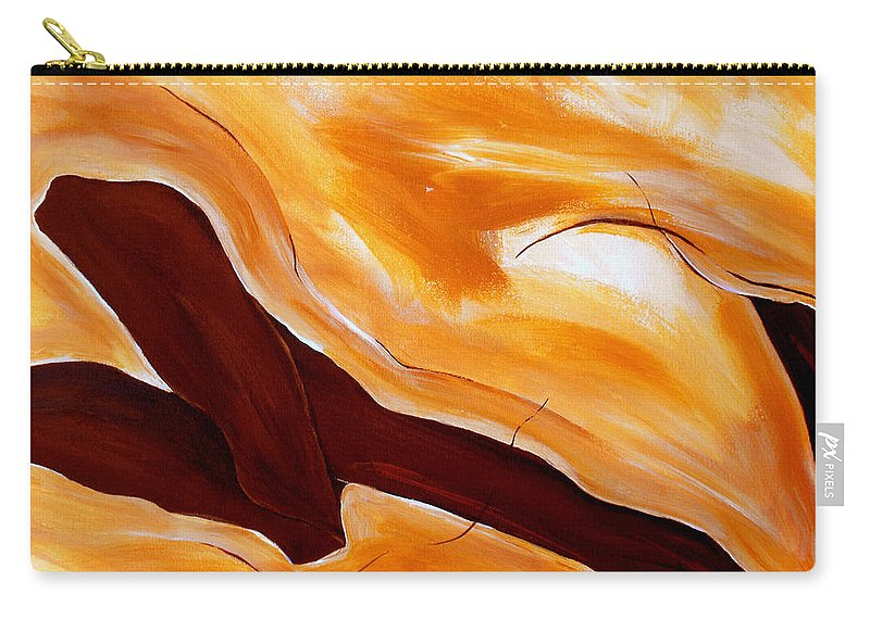 Abstract Carry-all Pouch featuring the painting Connect by Ruth Palmer