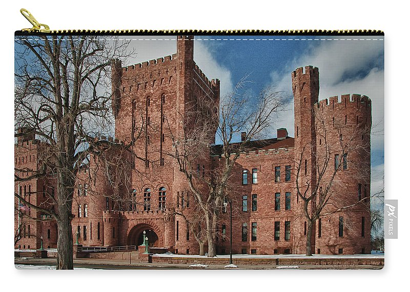 Armory Carry-all Pouch featuring the photograph Connecticut Street Armory 3997a by Guy Whiteley