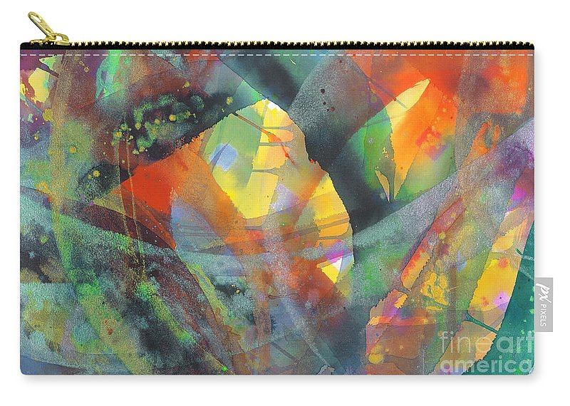 Abstract Carry-all Pouch featuring the painting Connections by Lucy Arnold