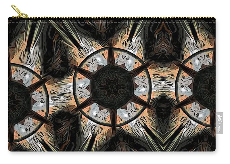 Abstract Carry-all Pouch featuring the digital art Connections by Ron Bissett