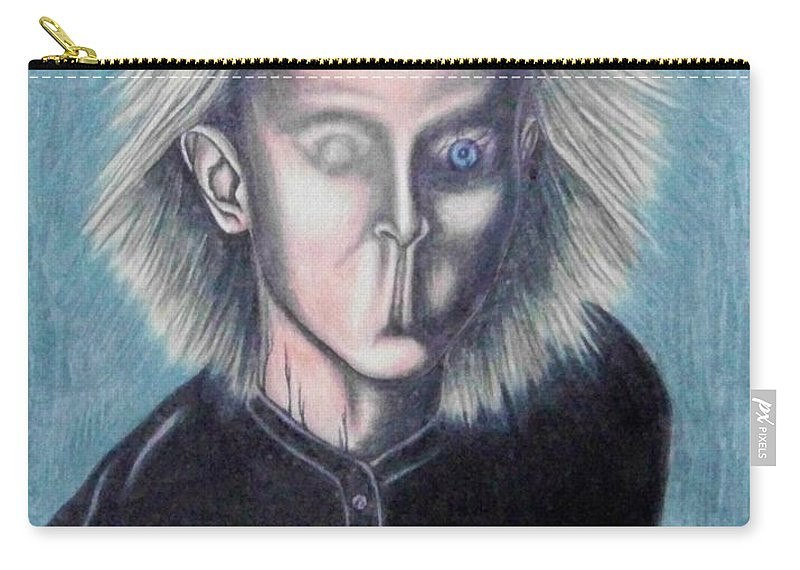 Tmad Carry-all Pouch featuring the drawing Consciousness by Michael TMAD Finney