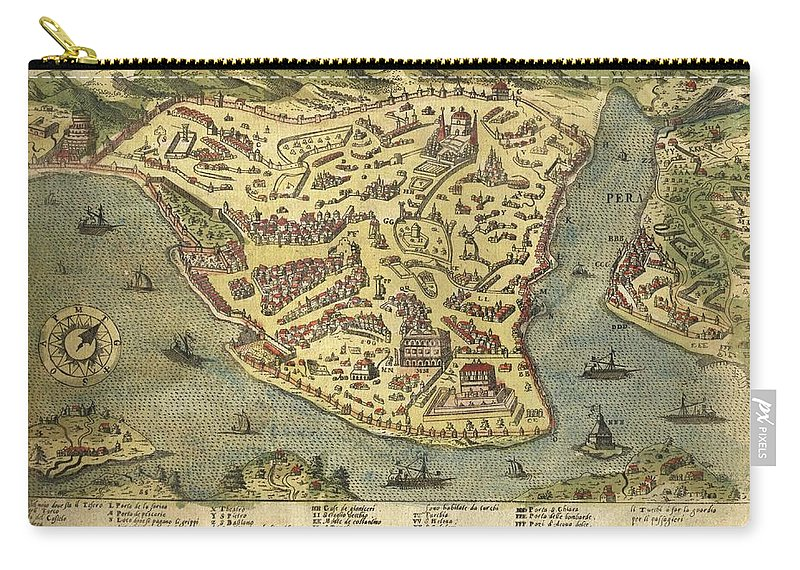 Constantinople - Old Cartographic Maps - Antique Map Of ... on