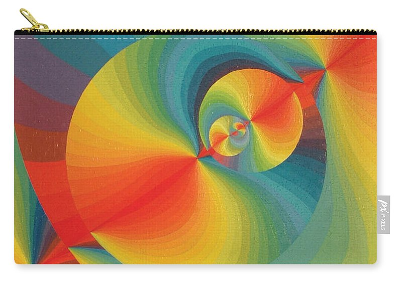 Oil Carry-all Pouch featuring the painting Constellation Of Planets by Peter Antos