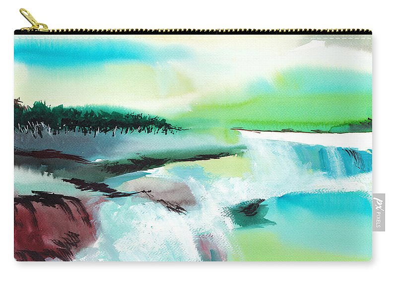 Nature Carry-all Pouch featuring the painting Constructing Reality 1 by Anil Nene