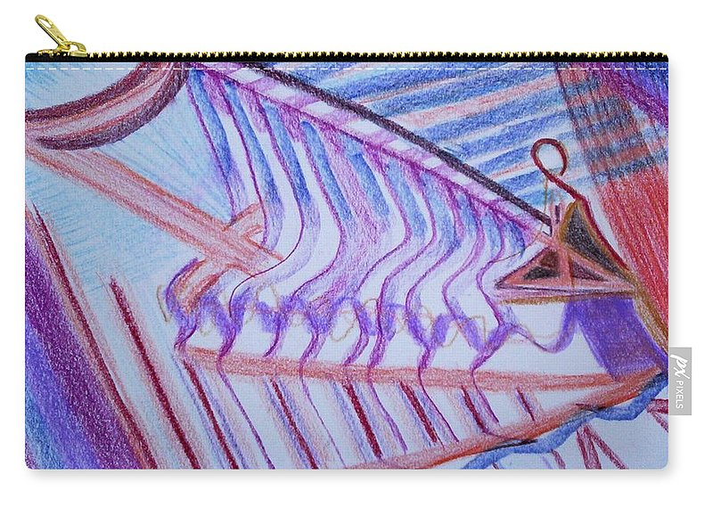 Abstract Carry-all Pouch featuring the painting Construction by Suzanne Udell Levinger