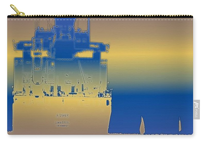 Puget Sound Carry-all Pouch featuring the photograph Container Sail 3 by Tim Allen
