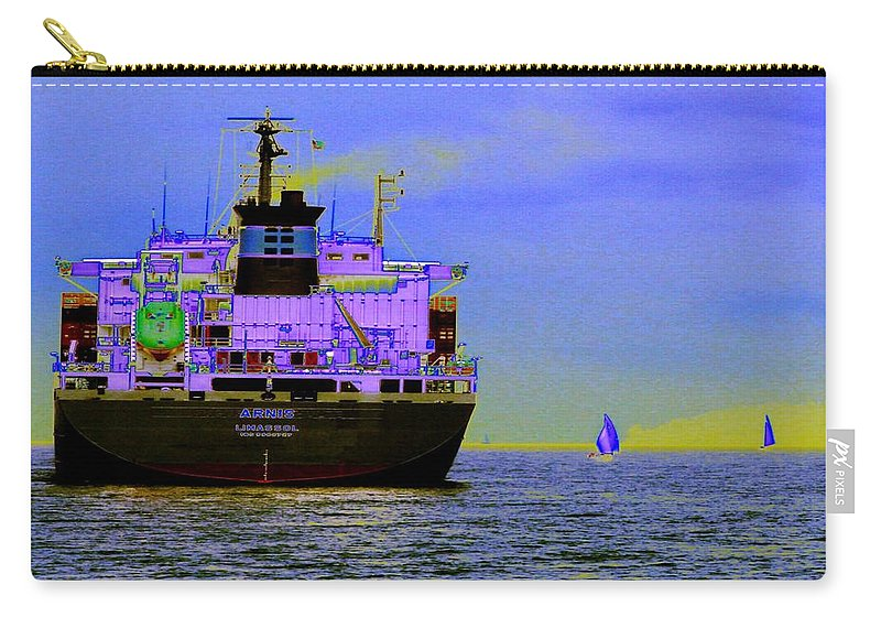 Seattle Carry-all Pouch featuring the photograph Container Sail by Tim Allen