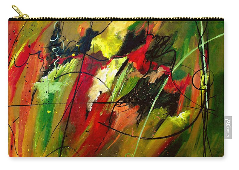 Abstract Carry-all Pouch featuring the painting Contemplating Perseverance by Ruth Palmer