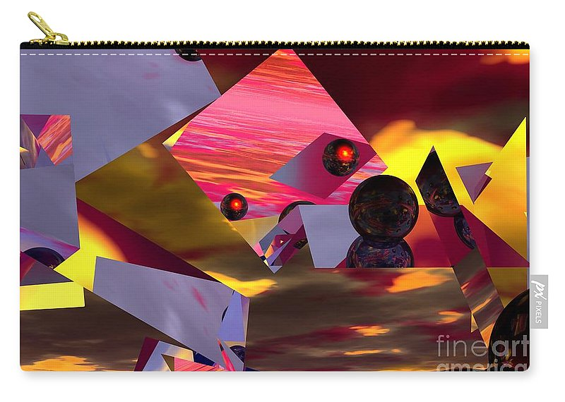 Carry-all Pouch featuring the digital art Contemplating The Multiverse. by David Lane