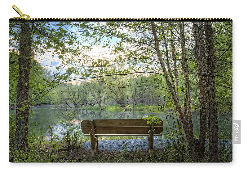 Carolina Carry-all Pouch featuring the photograph Contemplation by Debra and Dave Vanderlaan