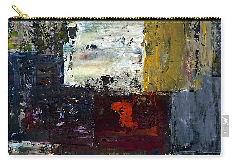 Abstract Carry-all Pouch featuring the painting Contemplation by Dick Bourgault