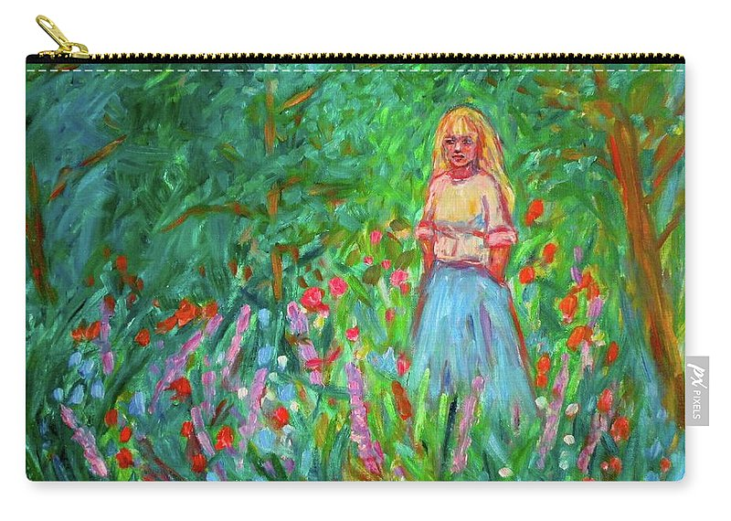 Landscape Carry-all Pouch featuring the painting Contemplation by Kendall Kessler