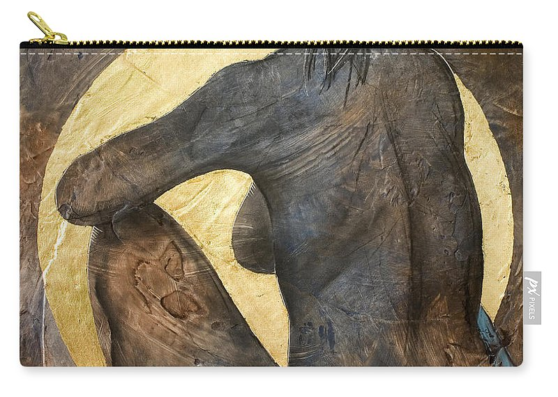 Nude Carry-all Pouch featuring the painting Contemplation by Richard Hoedl