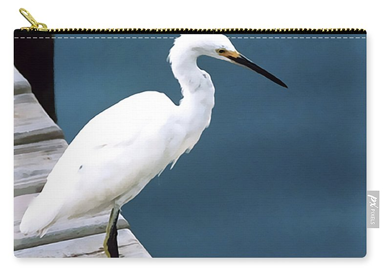 Bird Carry-all Pouch featuring the photograph Contemplation by Terry Fiala