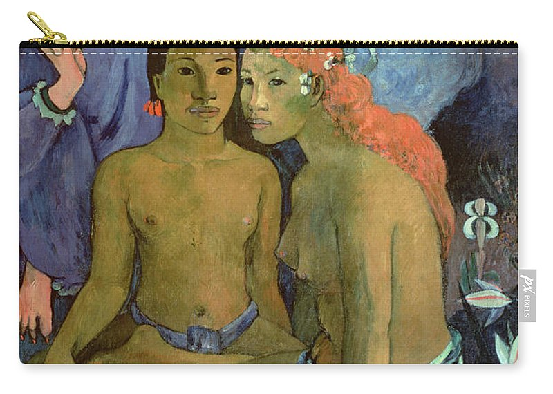 Contes Barbares Carry-all Pouch featuring the painting Contes Barbares by Paul Gauguin