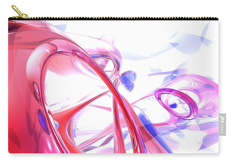 3d Carry-all Pouch featuring the digital art Contortion Abstract by Alexander Butler
