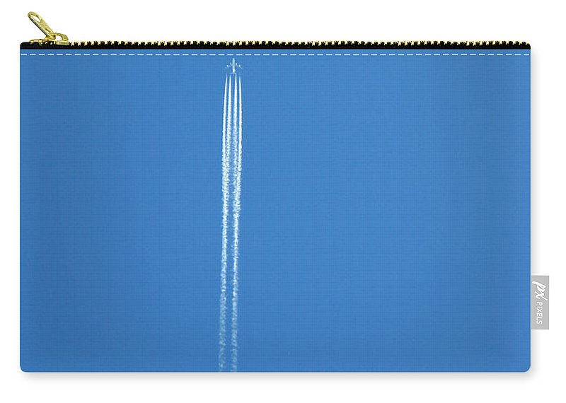 Vertical Carry-all Pouch featuring the photograph Contrails by Bill Tomsa